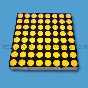 2 inch 8x8 LED Dot Matrix in Yellow