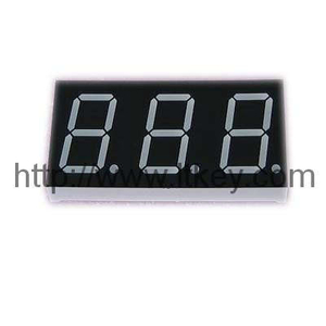 0.8'' 3 digits numeric LED Display with common pin 1. 3 and 10