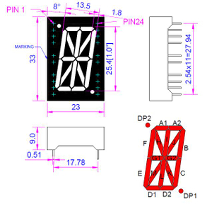 1.0 inch Red Alpha-numeric LED Display
